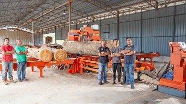 Det Malaysiske Firmaet Oppgraderer Til Raskere Og Mer Produktivt Tynn-Sag Sagbruk.