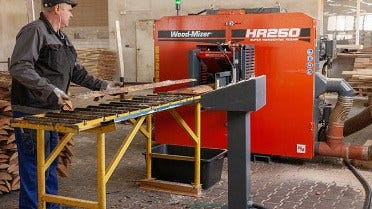First HR250 twin blade resaw in Poland