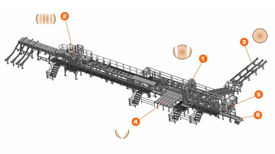 TITAN sawmilling system layout