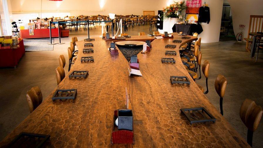 Custom wooden table